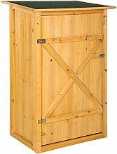 TecTake 402200 Gartenschrank mit Flachdach, 75 x