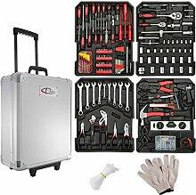 TecTake 599 teiliger Werkzeugkoffer mit Werkzeug