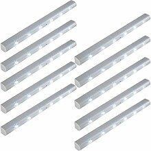 TecTake 6 LED Lichtleiste Bewegungsmelder