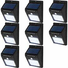 TecTake 6 LED Solar Außenleuchte Wandlampe