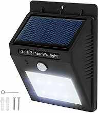 TecTake 6 LED Solar Außenleuchte Wandlampe Gartenleuchte mit Bewegungsmelder - diverse Mengen - (1 Stück | Nr. 401513)