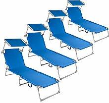 TecTake 800254 Gartenliege Sonnenliege Strandliege