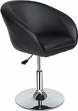 TecTake Barsessel Barhocker Loungehocker mit Lehne stufenlos höhenverstellbar schwarz