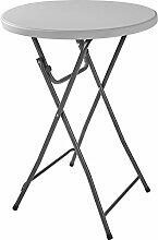 TecTake Bistrotisch Stehtisch klappbar rund 110 x 80cm | stabiles Stahlrohrgestell - diverse Mengen - (1 Tisch | Nr. 402758)
