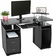 TecTake Computerschreibtisch Bürotisch mit