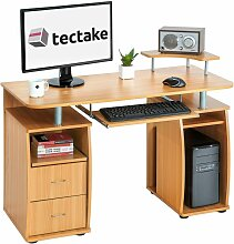 Tectake - Computertisch 115x55x87cm - Bürotisch,
