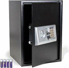 TecTake® Elektronischer Safe Tresor 50x35x34,5 CM schwarz inklusive 4 Batterien