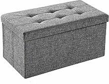 TecTake Faltbare Sitzbank Aufbewahrungsbox Sitzwürfel Hocker Würfel Möbel 76x38x38cm - diverse Farben - (Lichtgrau | Nr. 402238)