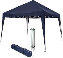 tectake Faltbarer Garten Pavillon 3x3m - blau -