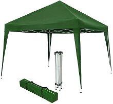 tectake Faltbarer Garten Pavillon 3x3m - grün -