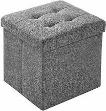 TecTake Faltbarer Sitzhocker Aufbewahrungsbox Sitzwürfel Hocker Würfel Möbel 38x38x38 cm- diverse Farben - (Lichtgrau   Nr. 402237)