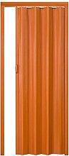 TecTake Falttür Eiche dunkel 80x203cm Falttüren Schiebetür Falt Tür Faltwand Nischentür Schiebetür Falttüre Türe Kunststoff PVC