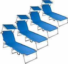 TecTake Gartenliege Sonnenliege Strandliege