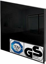 TecTake Glas Infrarotheizung Glasheizung Sicherheitsglas Elektroheizung IR Heizung inkl. Wandhalterung Heizfolie Made in Germany - diverse Modelle - (450 Watt schwarz | Nr. 401086)