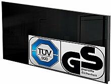TecTake Glas Infrarotheizung Glasheizung Sicherheitsglas Elektroheizung IR Heizung inkl. Wandhalterung Heizfolie Made in Germany - diverse Modelle - (850 Watt schwarz | Nr. 401092)