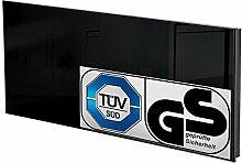 TecTake Glas Infrarotheizung Glasheizung Sicherheitsglas Elektroheizung IR Heizung inkl. Wandhalterung Heizfolie Made in Germany - diverse Modelle - (510 Watt schwarz | Nr. 401088)