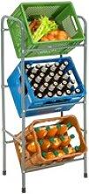 tectake Küchenregal Getränkekistenregal für 3