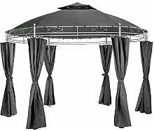 TecTake Luxus Pavillon Gartenpavillon Partyzelt