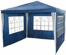 TecTake Pavillon Partyzelt Gartenzelt Eventpavillon 3x3m mit 3 Seitenteile - diverse Farben - (Blau)