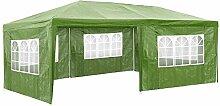 TecTake Pavillon Partyzelt Gartenzelt Eventpavillon | 3x6 m + 5 Seitenteile mit Fenster | - diverse Größen - (Grün | Nr. 402304)