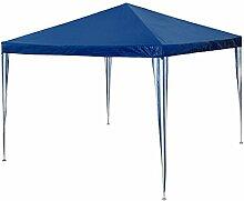TecTake Pavillon Partyzelt Gartenzelt Eventpavillon blau 3x3m Regenschutz Sonnenschutz