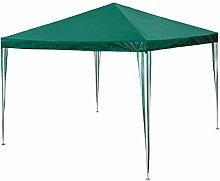 TecTake Pavillon Partyzelt Gartenzelt Eventpavillon grün 3x3m Regenschutz Sonnenschutz