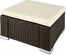 TecTake Poly Rattan Sitzhocker   Komfort - Sitzkissen   Witterungsbeständig - verschiedene Farben (Braun   No. 402667)