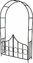 TecTake® Rosenbogen Torbogen Rankhilfe mit Tür