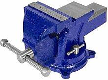 TecTake® Schraubstock Amboss 360° drehbar mit Drehteller für Werkbank 125 mm
