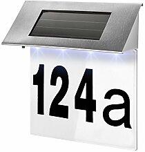 TecTake Solar Hausnummernleuchte Hausnummer LED