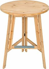 TecTake Stabiler Holz Stehtisch massiv Bistrotisch Klapptisch klappbar Höhe: ca. 111 cm, Ø 78 cm