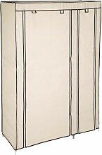 Tectake - Stoffschrank 6 Fächer - Kleiderschrank,
