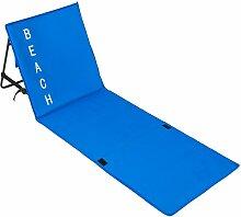 Tectake - Strandmatte mit verstellbarer Lehne -
