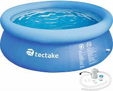 Tectake - Swimming Pool rund mit Filterpumpe Ø