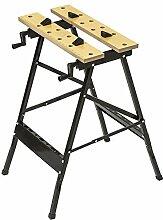 TecTake Werkbank mit klappbarem Gestell Tisch mit Klemme