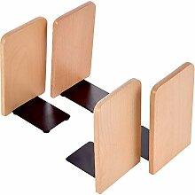 TecUnite 2Paar Holz Buchstützen Buche Holz Art
