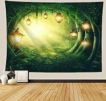 TEDDRA Fantasie Wald Wandbehang Wandteppich
