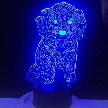 Teddy Dog 3D LED Licht Nachtlicht Optische