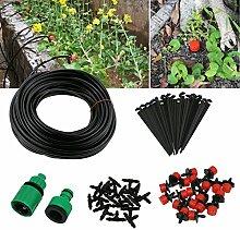 TedGem Bewässerung DIY Bewässerungssystem-Garten automatische Bewässerung automatische Sprinkler Tröpfchenbewässerung Gartenbewässerung -20m DIY Automatik Micro Drip Ki