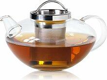 Tee-/Glas Kanne, Lotus mit Edelstahlsieb, 1.2 L