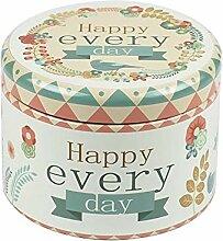 Tee Kaffee Container Zylindrische Candy Flower Tee