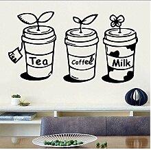 Tee Kaffee Mike Wandkunst Aufkleber Haus