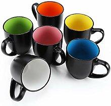 Tee-/Kaffeetassen-Set, groß, 500 ml,