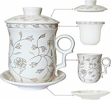 TEE Talent Porzellan Tee Cup mit-Ei Deckel und