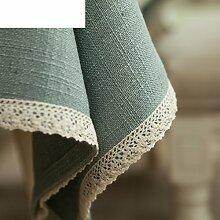 Tee Tischdecke/Tabelle Tabelle Tuch Aus Baumwolle Leinen Tischdecke-A 130x210cm(51x83inch)
