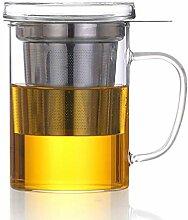 Teebereiter Dexlue mit Tee-Filter, Tee-Sieb und