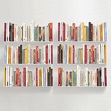 TEEbooks - CD und DVD Regal - 6er Set - STAHL -