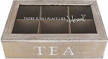 Teebox 6 Fächer Home - Teekiste - Tee - Teekasten