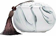 Teebox aus Keramik, chinesischer Stil, rund,