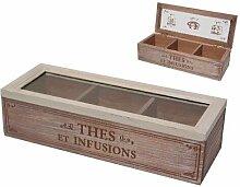Teebox mit 3 Fächern COUNTRY